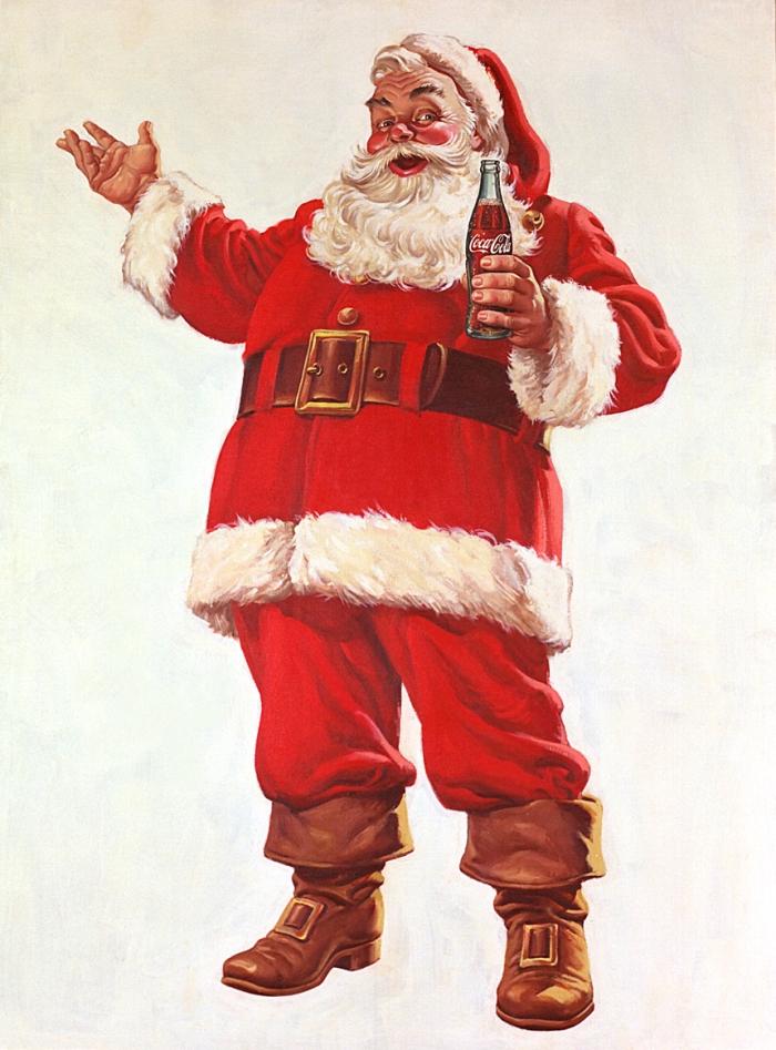 Coca Cola popularise la figure du Père Noel dans les années 1930...