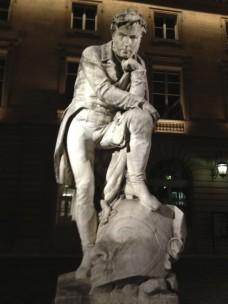 Statue de Champollion.