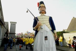 Le Géant Reuze Pintje. Pintje Bier II est le seul Tambour Major à avoir un géant à sa ressemblance...