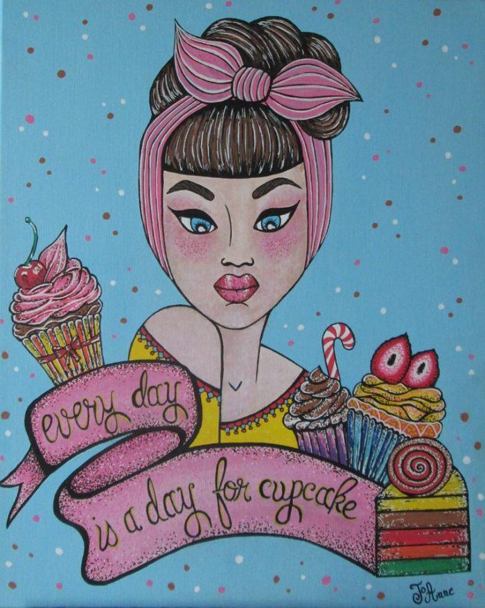 """Pour Audrey's Cupcakes, Lady Pounky signe """"JoAnne"""""""