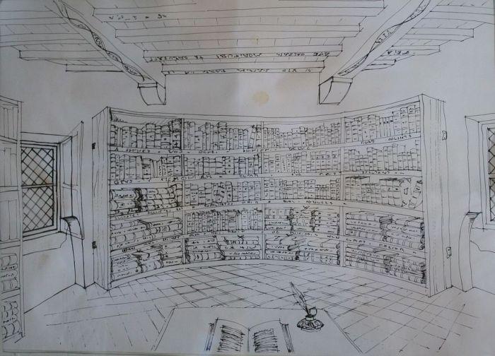 Bibliothèque de Montaigne.
