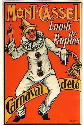 Affiche ancienne pour le Carnaval d'été de Cassel.