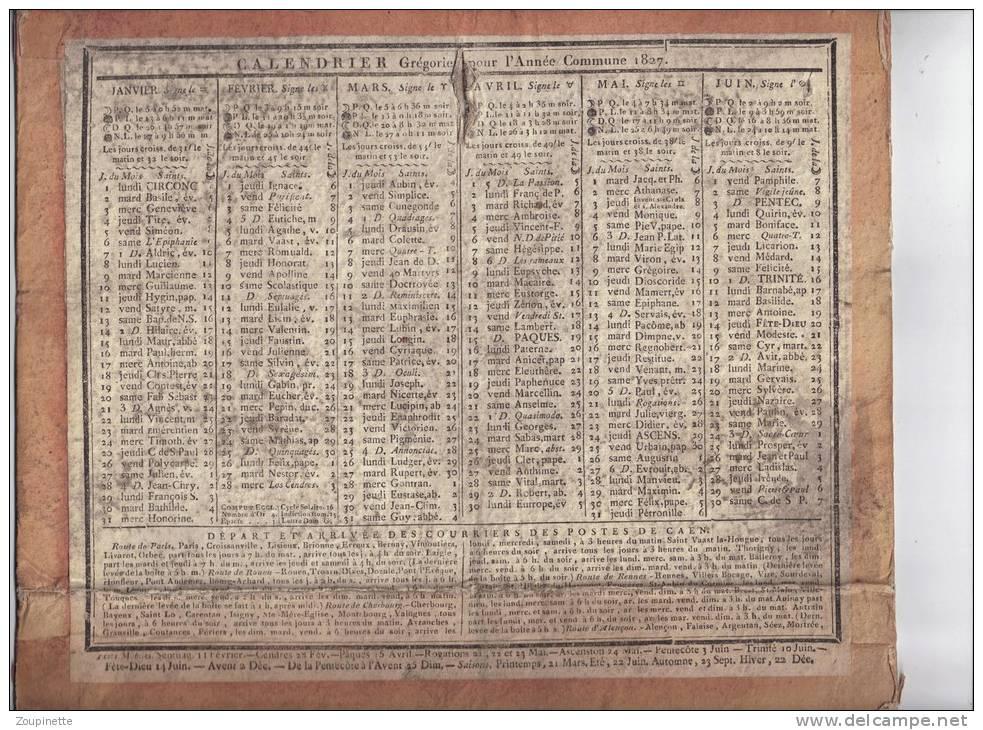 Exemple de calendrier grégorien du XIXème siècle.