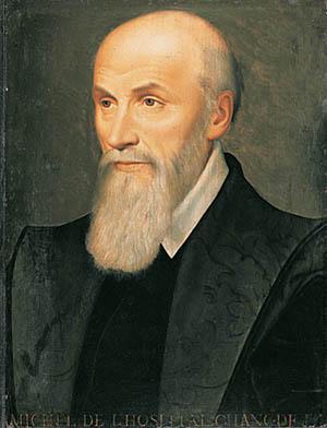 Portrait de Michel de L'Hospital, réalisé au XVIème siècle.