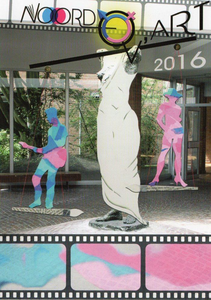 Affiche du Noordov'Art 2016, réalisée par les élèves de l'option arts plastiques.