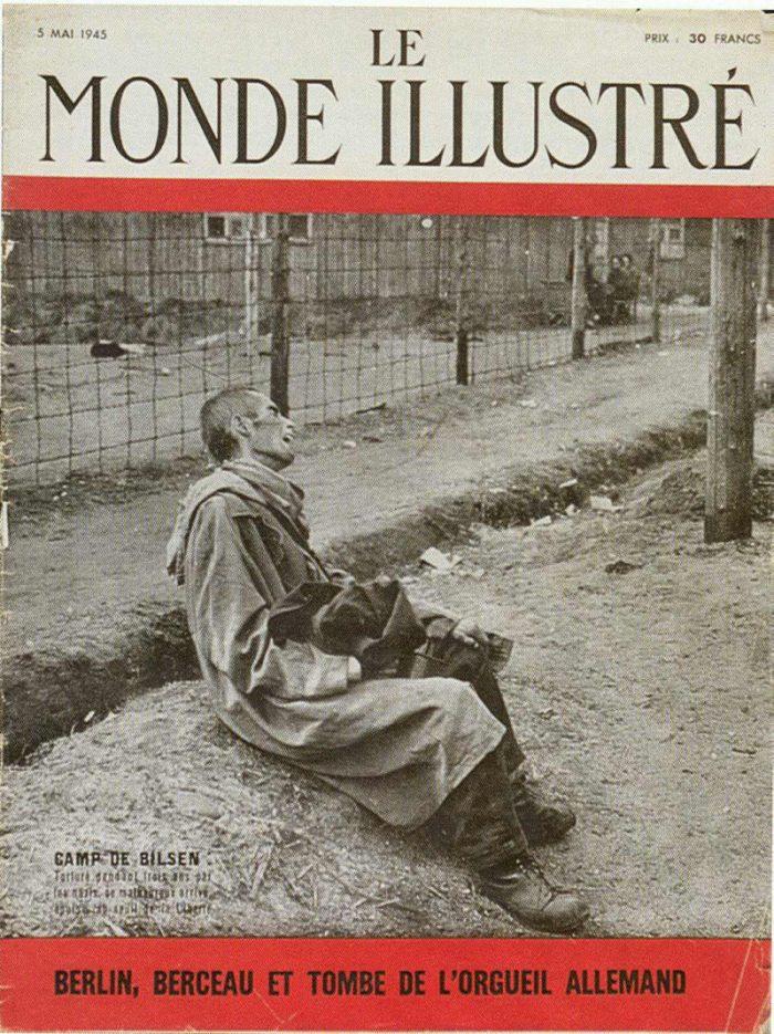 La une du Monde annonce la libération du camp de Bergen Belsen.