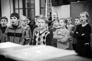 La chorale en répétition.