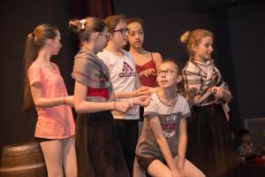 Quelques danseuses en répétition.