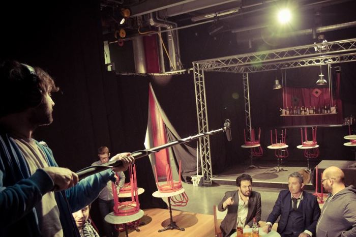 Maxence Cambron et Christophe Jean sur le tournage.