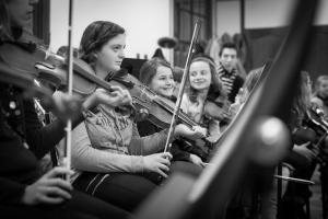 L'orchestre en répétition.