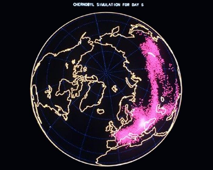 Avril 1986 : le voyage du nuage radioactif autour du monde...