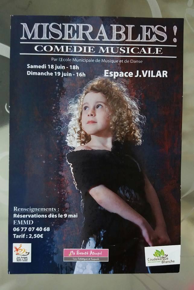 Emy, à l'affiche du spectacle Misérables !