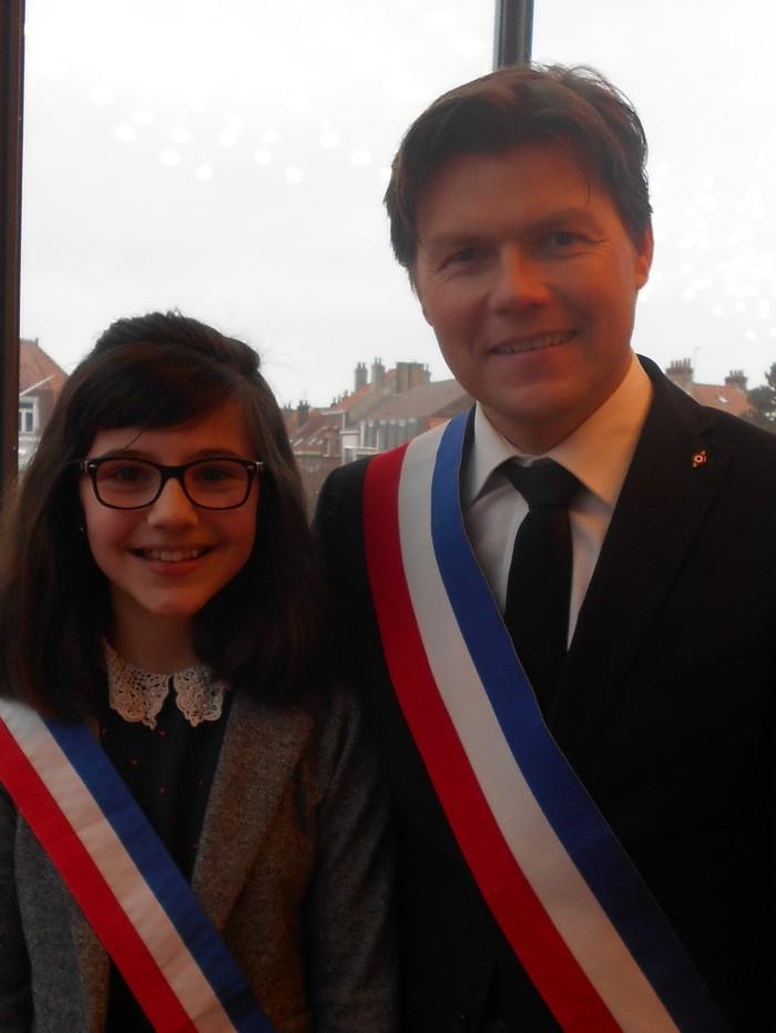 Lors de l'élection de la maire du CMJ, en décembre 2015.