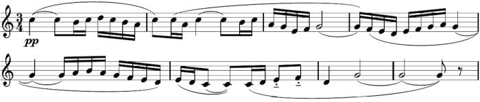 Thème A du Boléro. Partie de flûte.