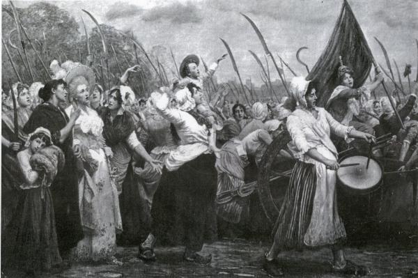 La marche des femmes du 6 octobre 1789.