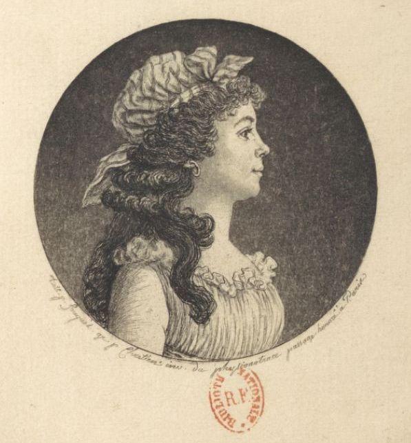 Théroigne de Méricourt en 1791. Portrait de Jean Fouquet.