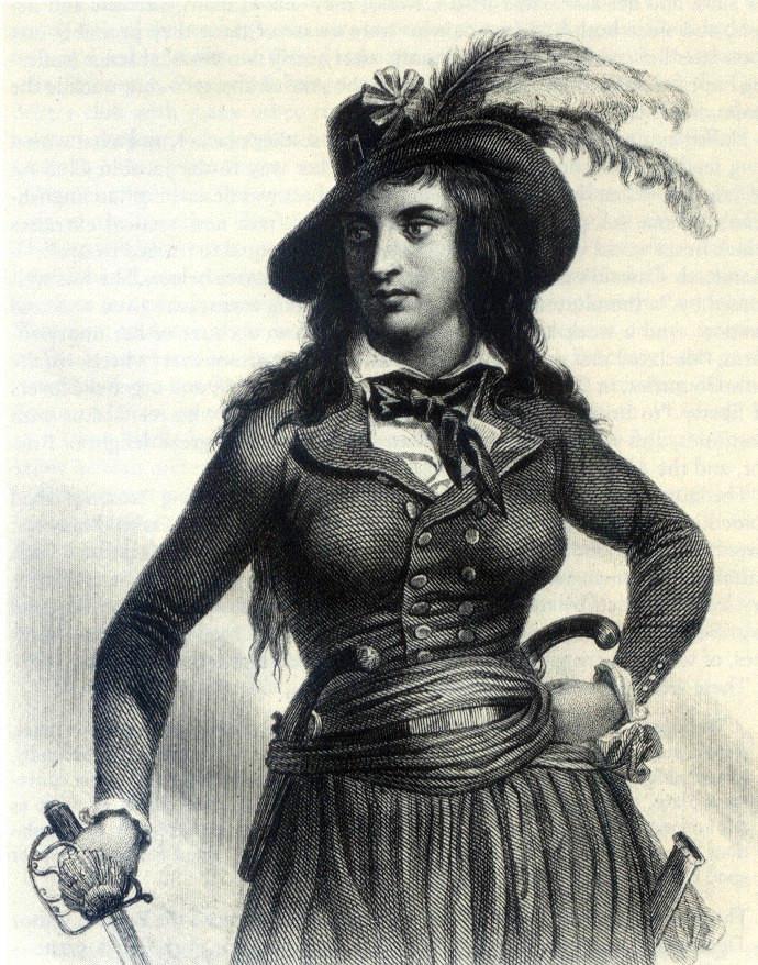 Théroigne de Méricourt en amazone. Auguste Raffet.