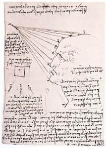Etude sur la lumière, Léonard de Vinci.