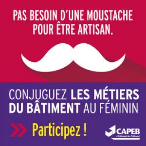 Campagne de promotion des femmes au sein des métiers du bâtiment.