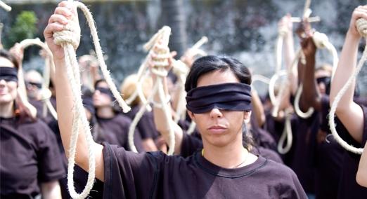 Affiche de campagne pour l'abolition de la peine de mort d'Amnesty International