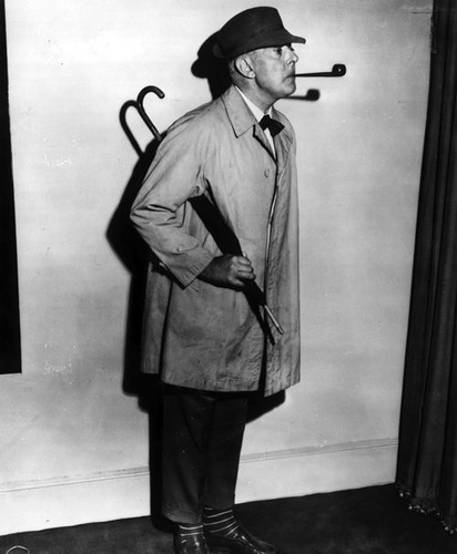 "Jacques Tati et ""son"" Monsieur Hulot..."