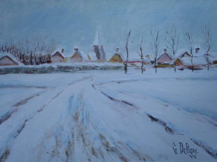 Uxem sous la neige, Gérard Deligny