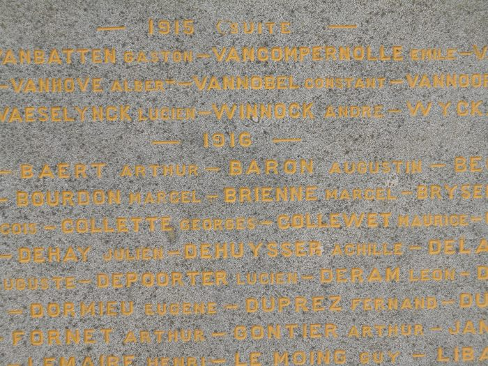 Monument aux Morts de Coudekerque Branche. Année 1916...