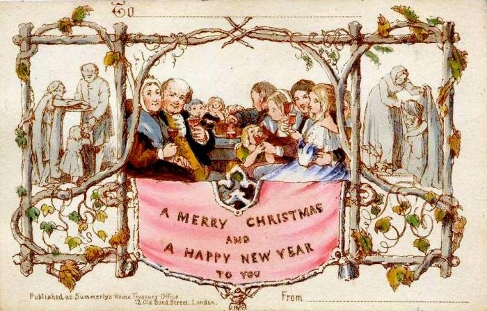 Première carte de vœu, John Callcott Horsley