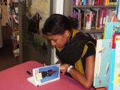 Justine Jotham est très présente dans les salons du livre de notre région.